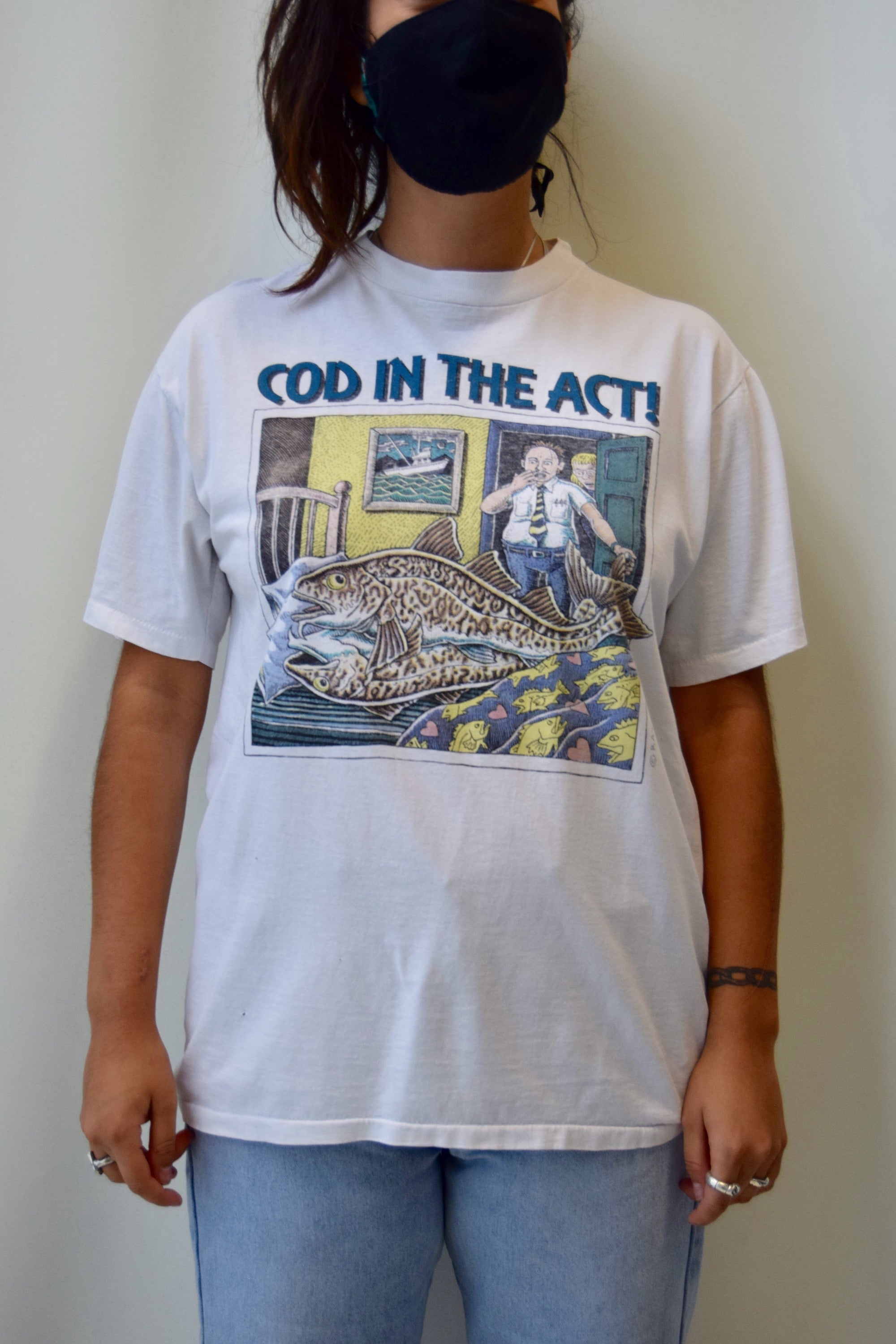 "1996 Ray Troll ""Cod In The Act"" Tee"