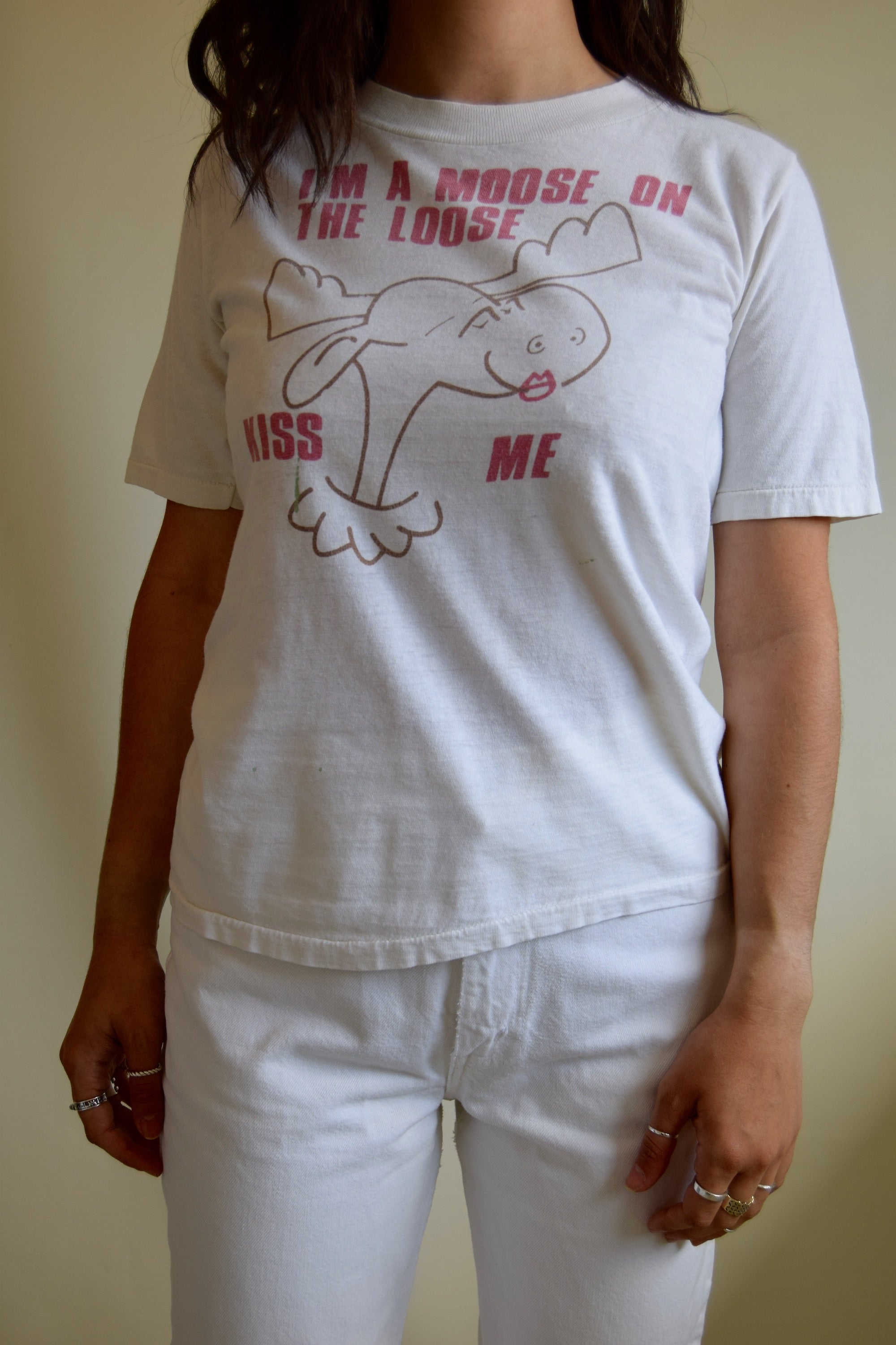 "Vintage ""Moose On The Loose"" T-Shirt FREE SHIPPING"