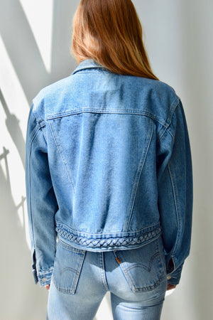 Rafaella Braided Denim Jacket