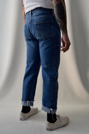 1980's Levis 501 Medium Wash Selvedge Jeans