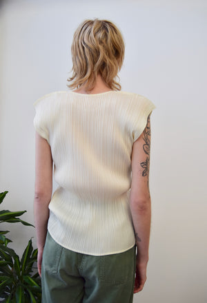 Designer Pleats Please Cream Top
