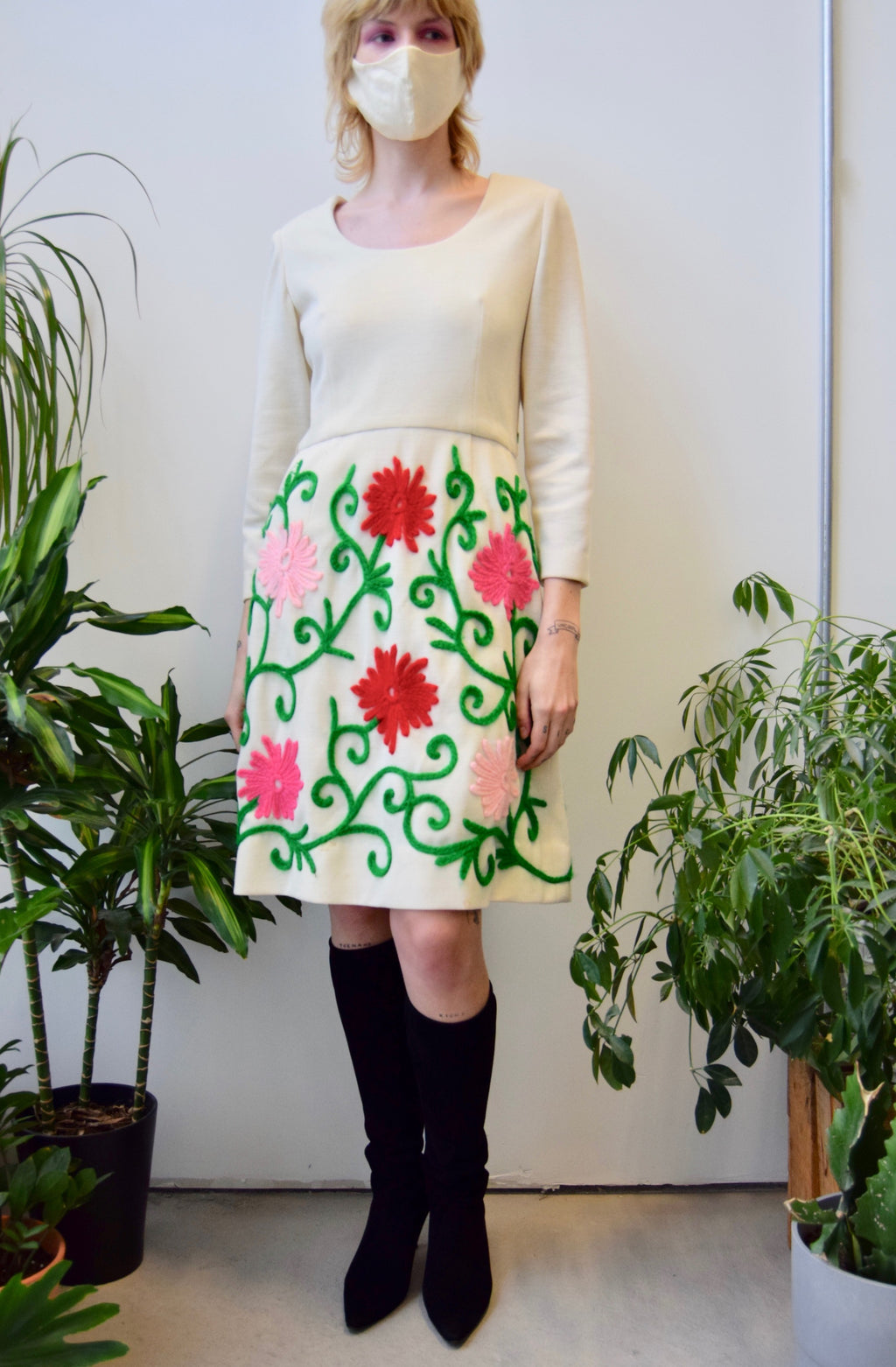 Sixties Double Knit Garden Dress