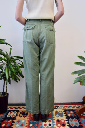 Vintage Olive Military Trousers