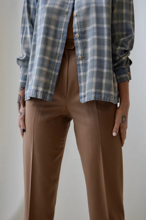 Max Mara Fawn Wool High Waisted Trousers