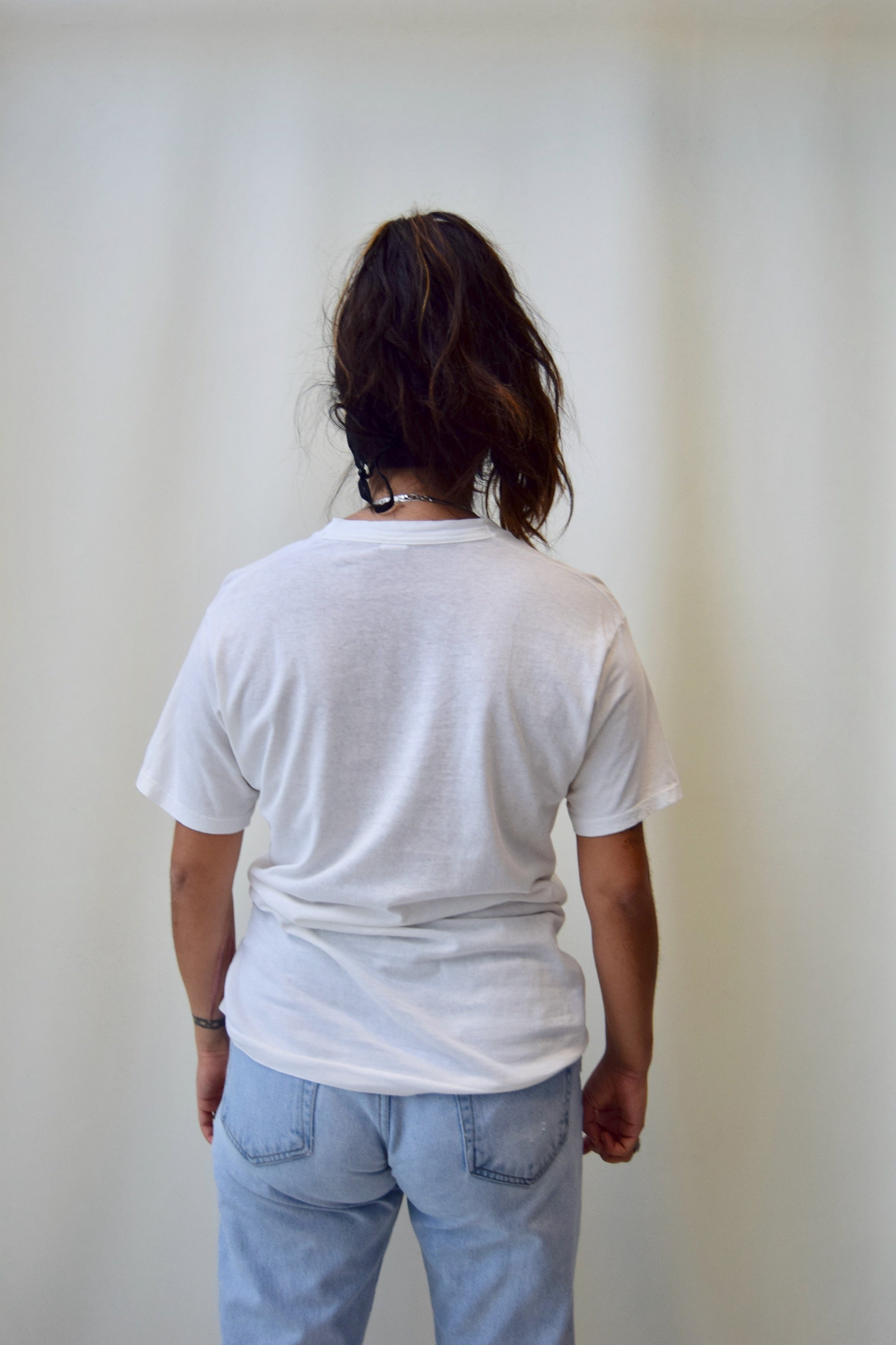 Vintage White Cotton Tee
