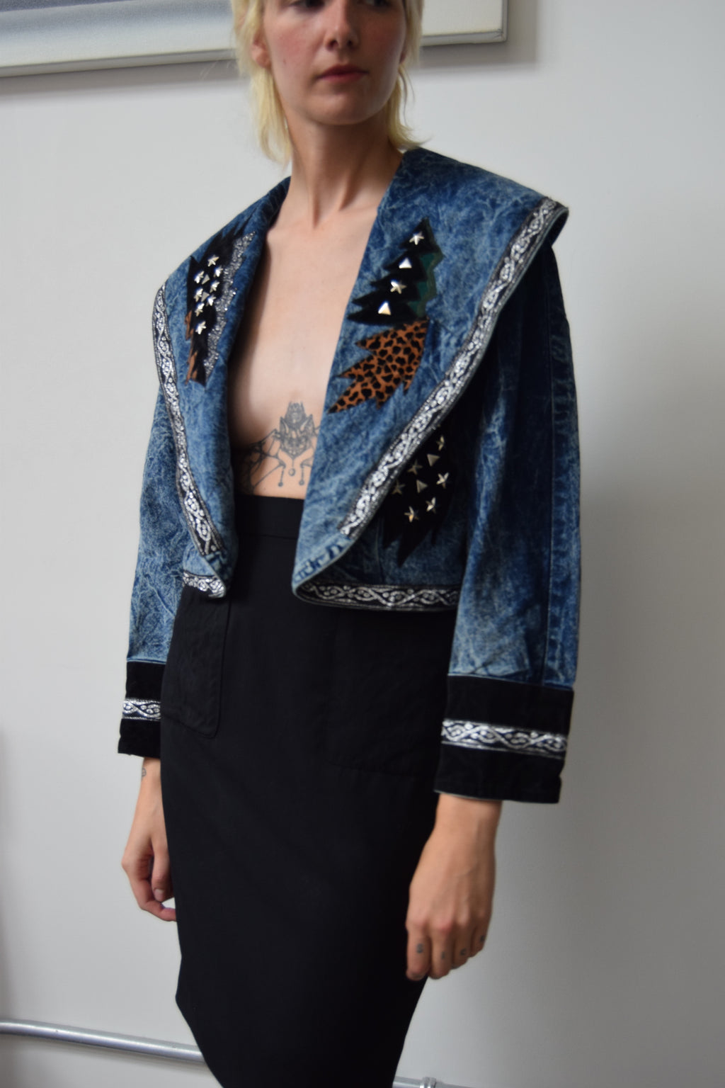Eighties Acid Wash Denim Bolero