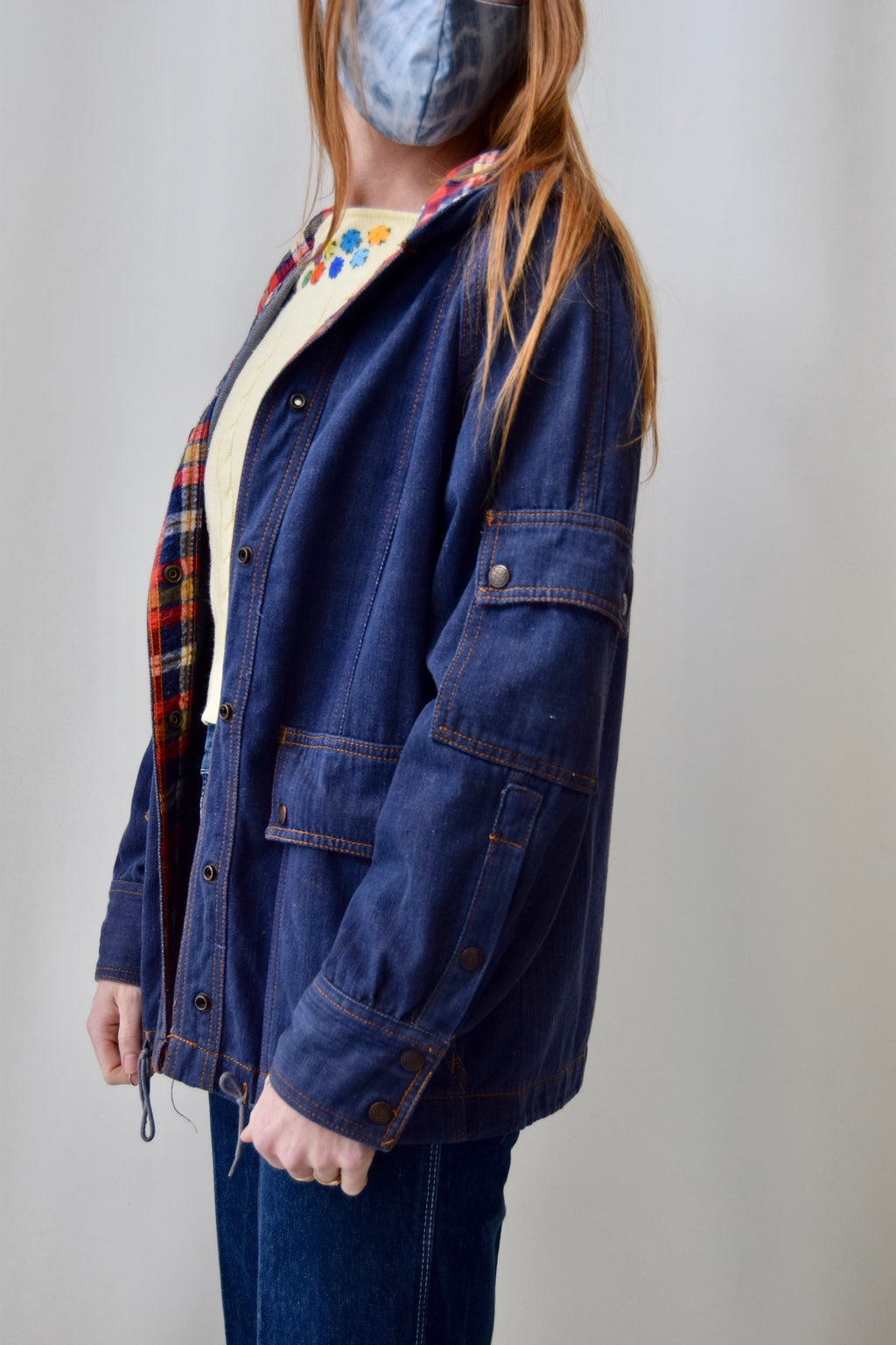 Seventies Hooded Jean Jacket