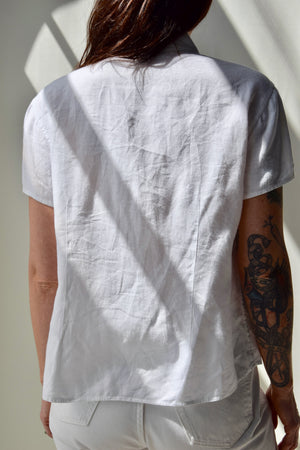 Perfect White Linen Top