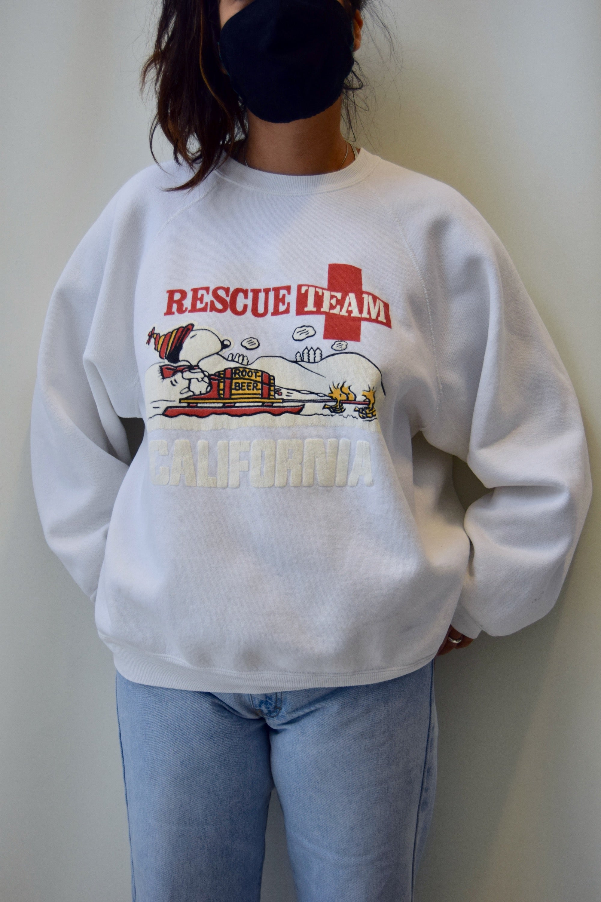 Snoopy and Woodstock Rescue Team California Sweatshirt