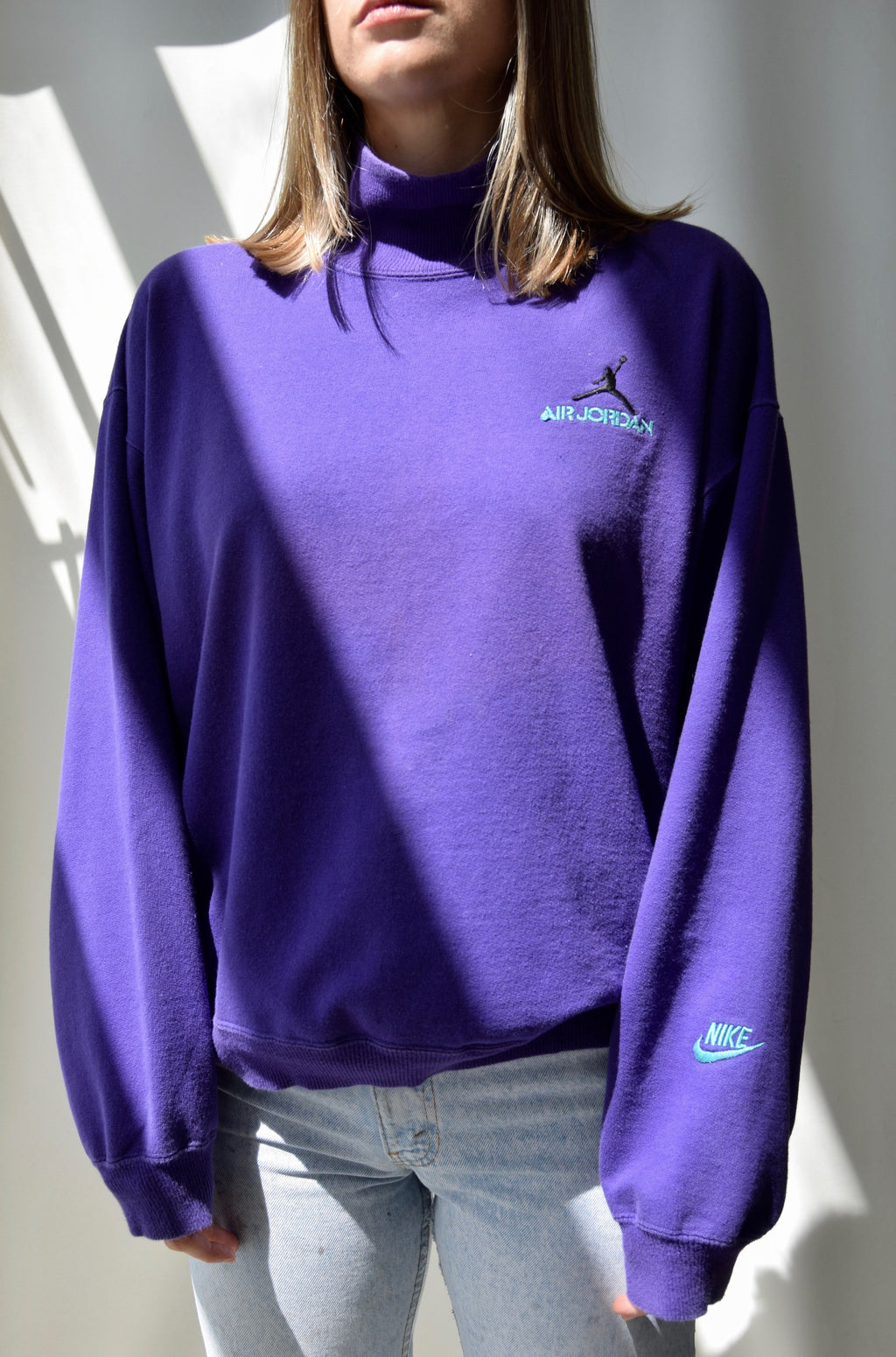 90's Purple Nike Air Jordan Sweatshirt
