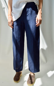 Streamline Linen Trousers