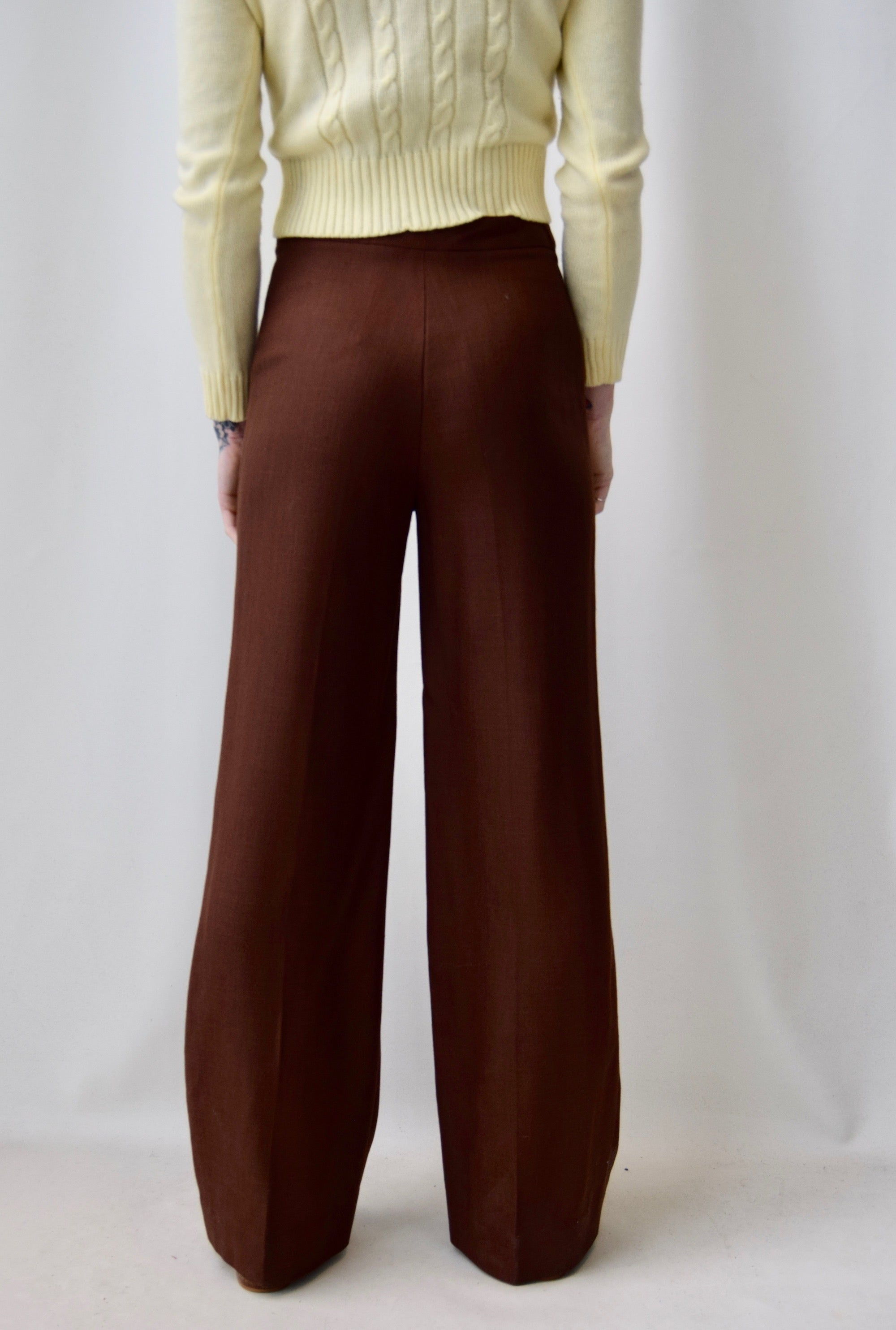 Seventies French Rayon Knit Trousers