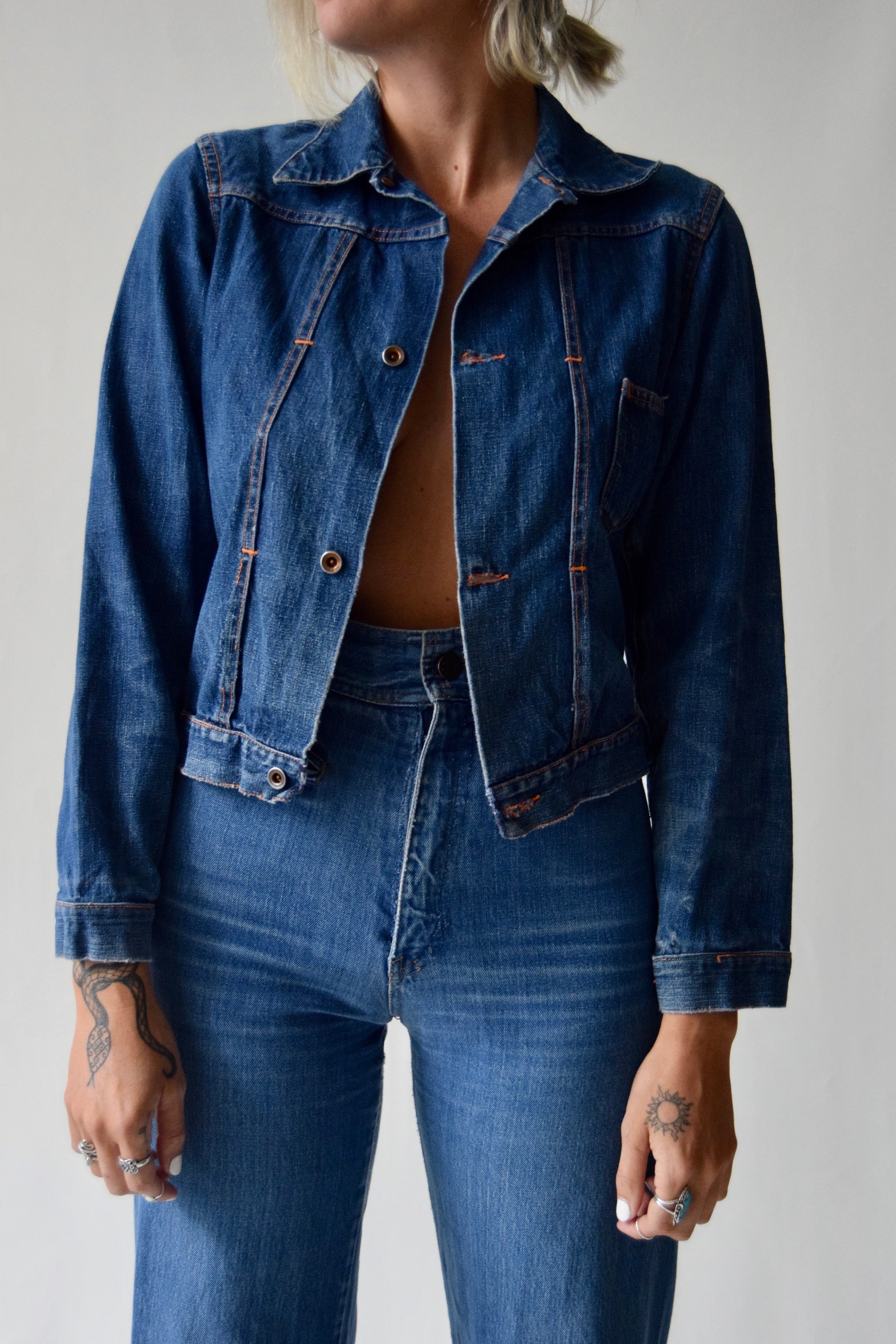 Vintage 1950's Denim Jacket FREE SHIPPING