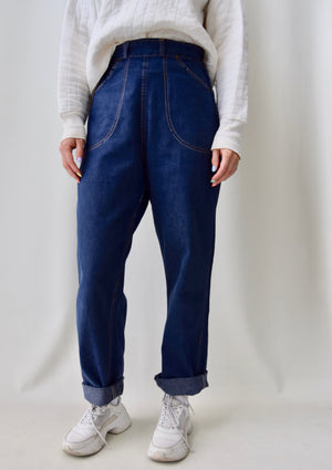 "Fifties ""Caribou Rider"" Side Zip Jeans"