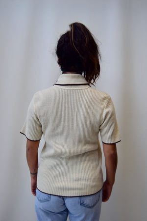 Seventies Cream Polo Knit