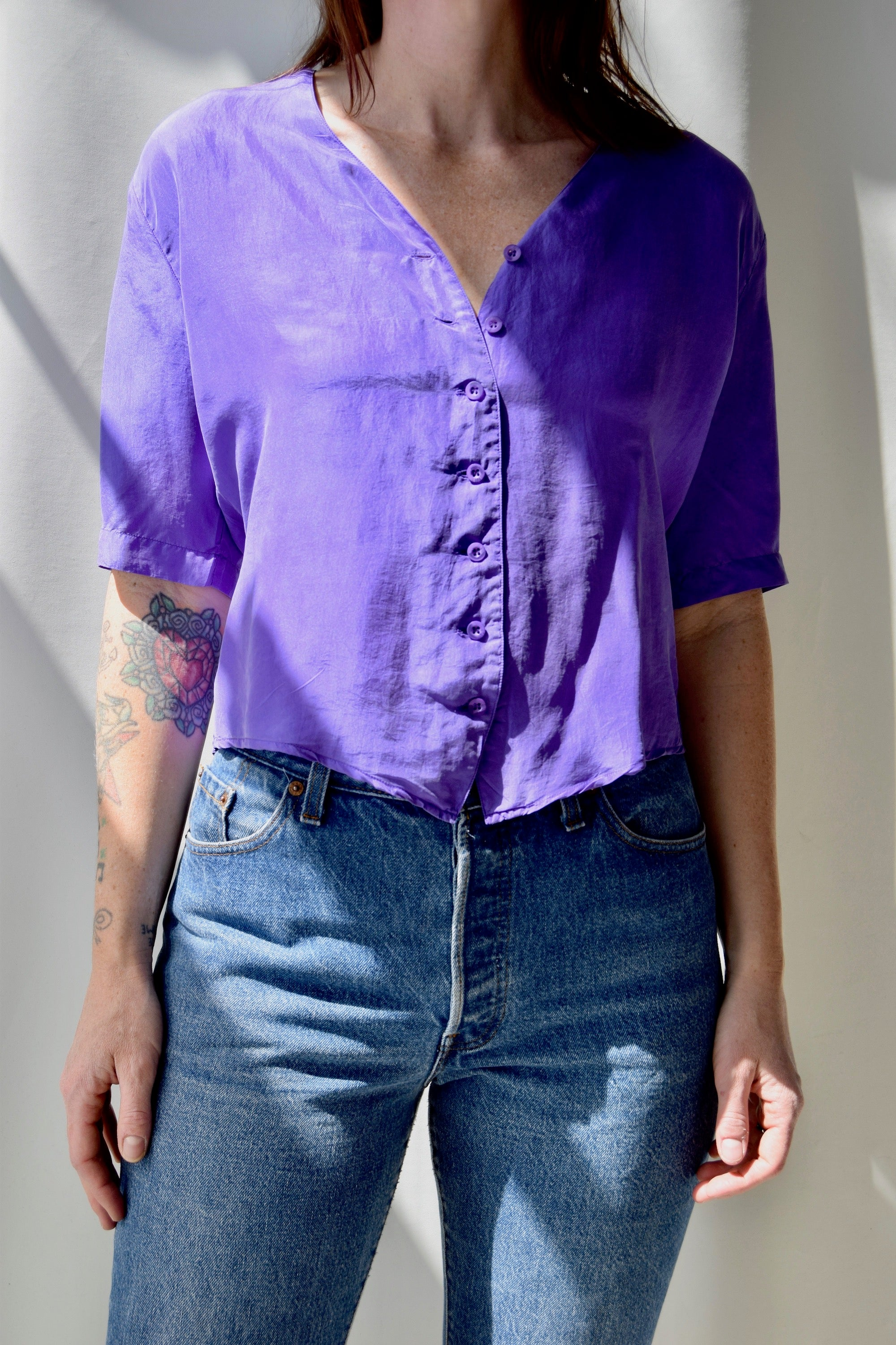 Royal Purple Silk Top