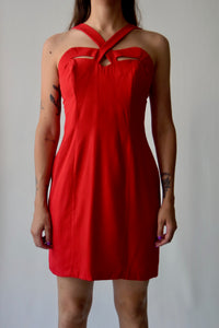 Crimson Red Pretty Woman Dress