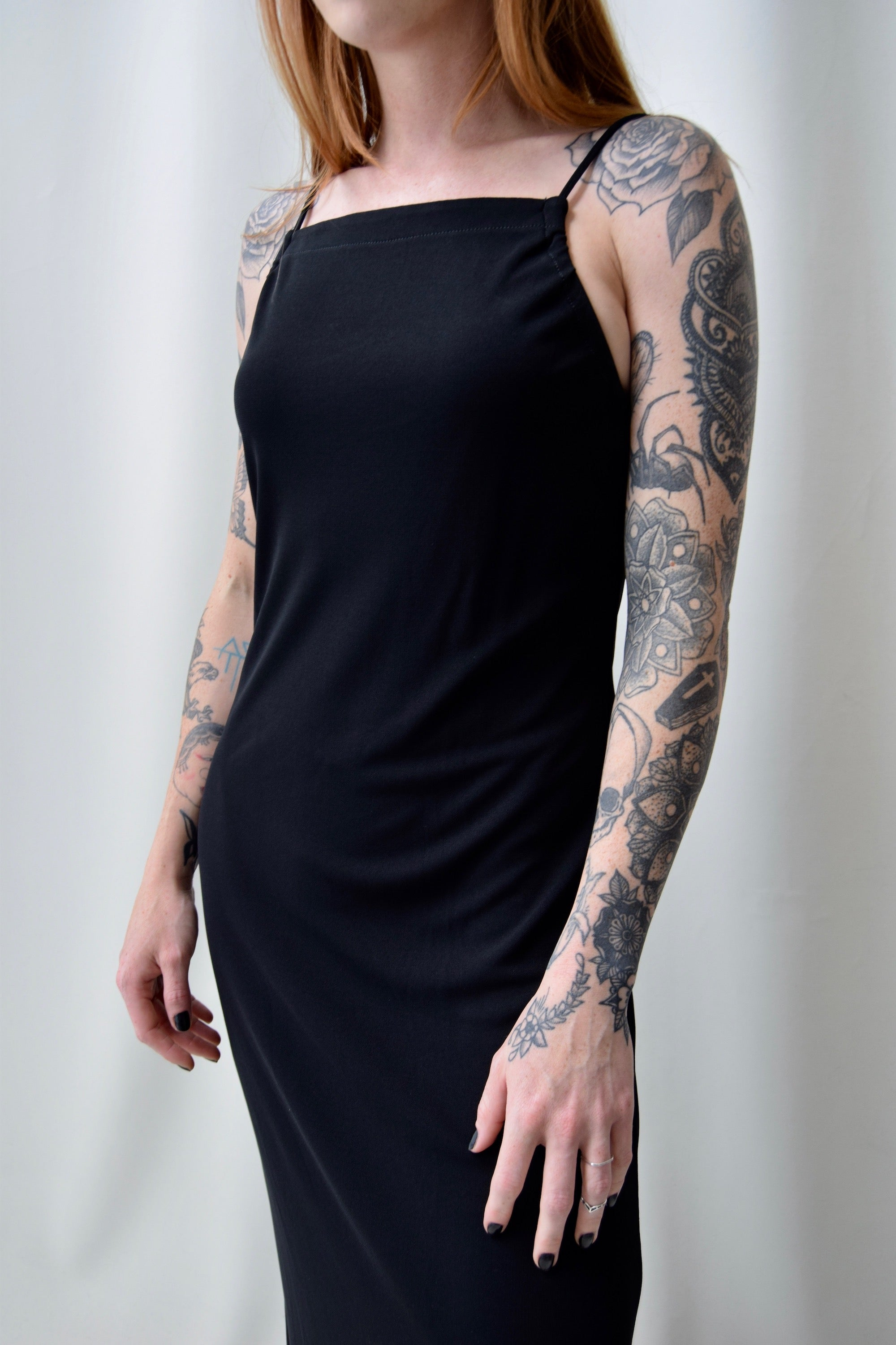 90's Slinky Black Dress
