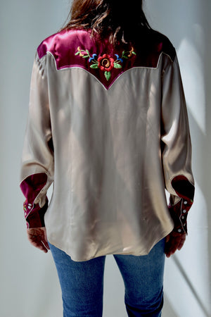 1950's Satin Embroidered Western
