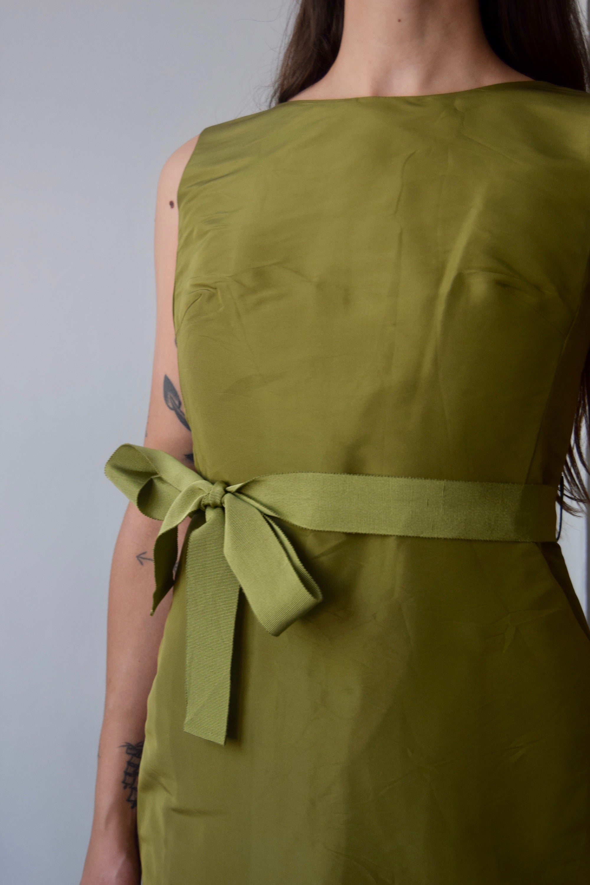Ports 1961 Moss Green Silk Dress