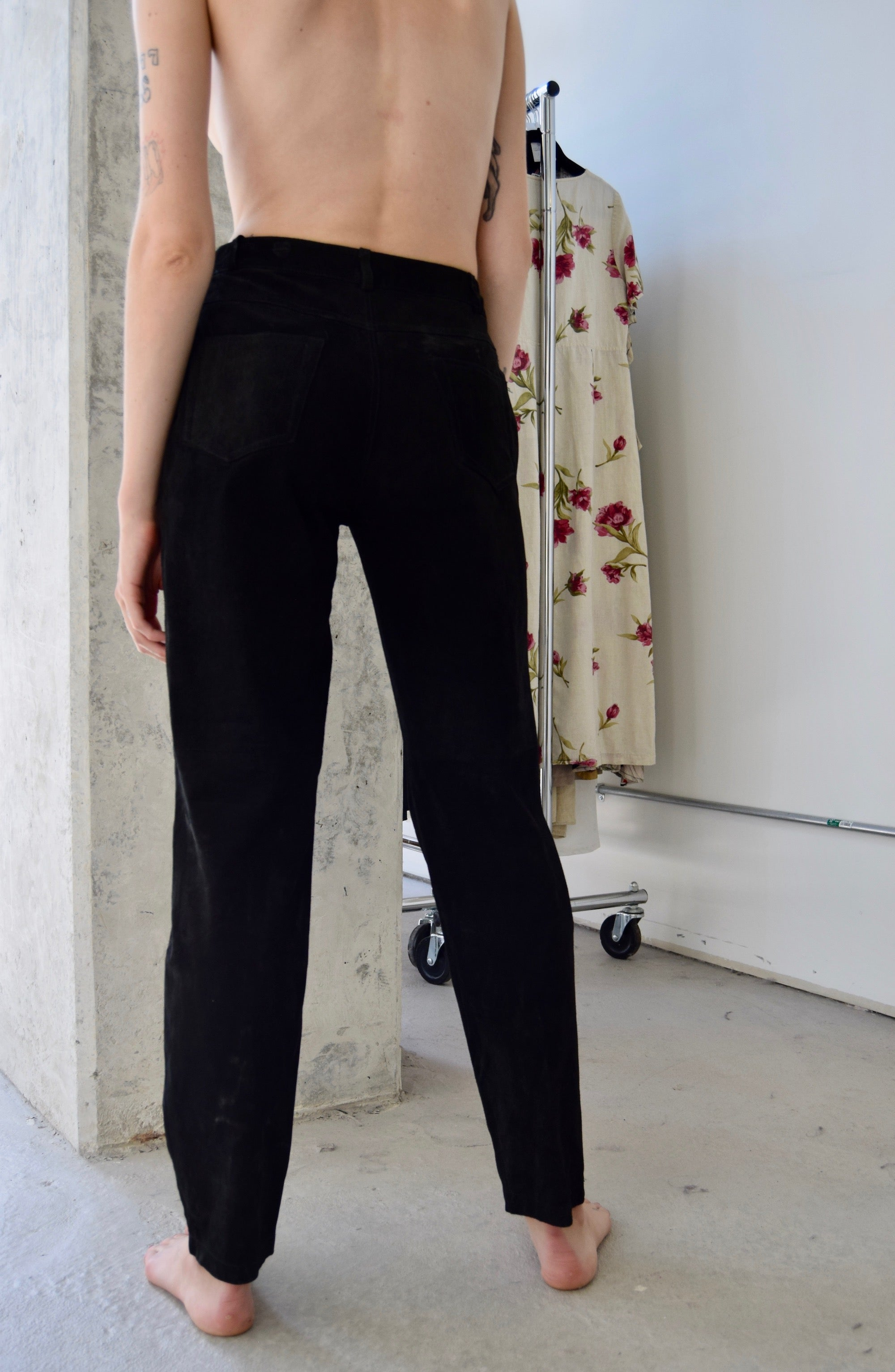 Onyx Suede Jeans