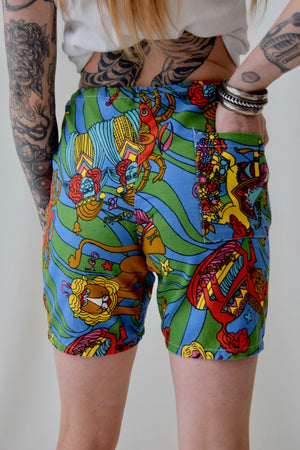 1970's Horoscope Lounge Shorts