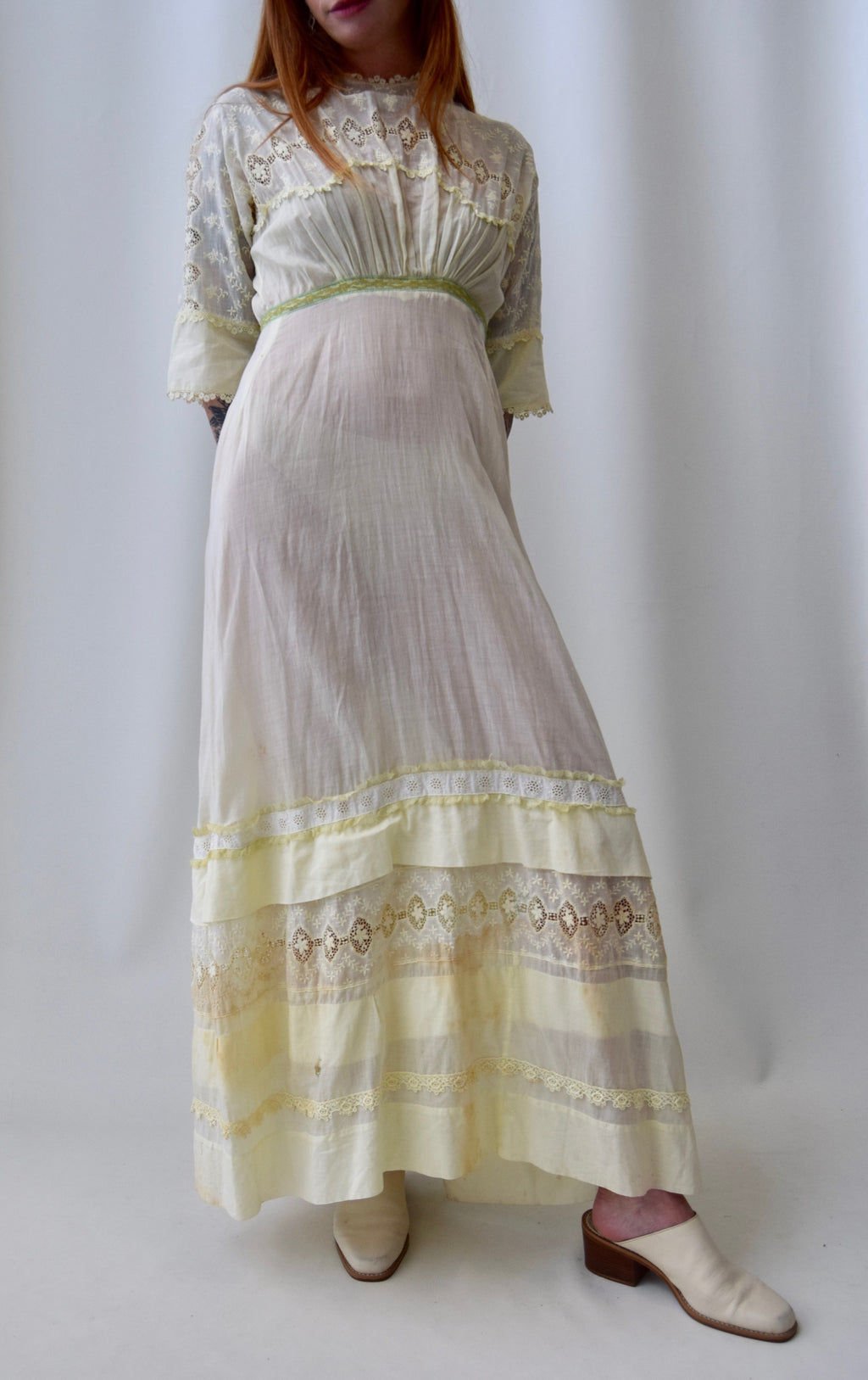 Lemon Chiffon Antique Nightgown