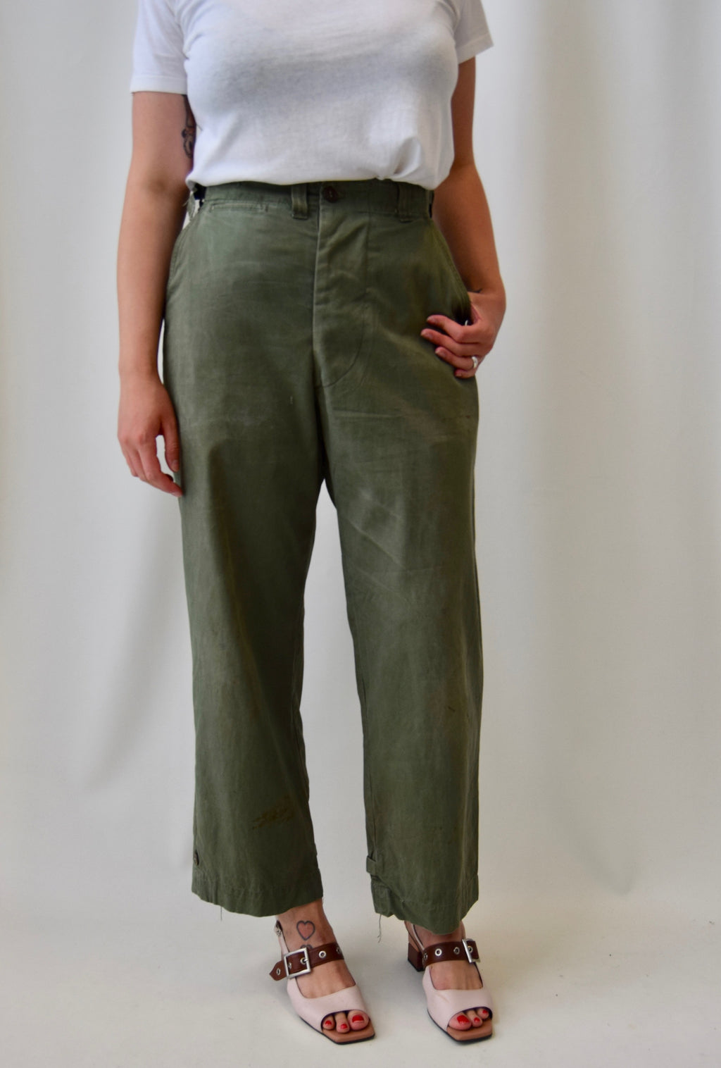 1961 Olive Military Field Trousers