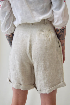 Sandy Linen Trouser Shorts