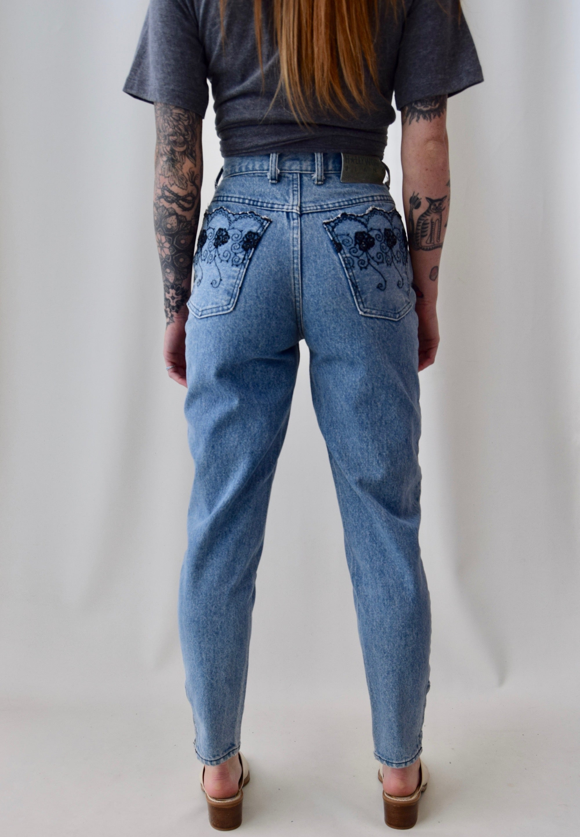 Hollywood Embroidered Pocket Jeans