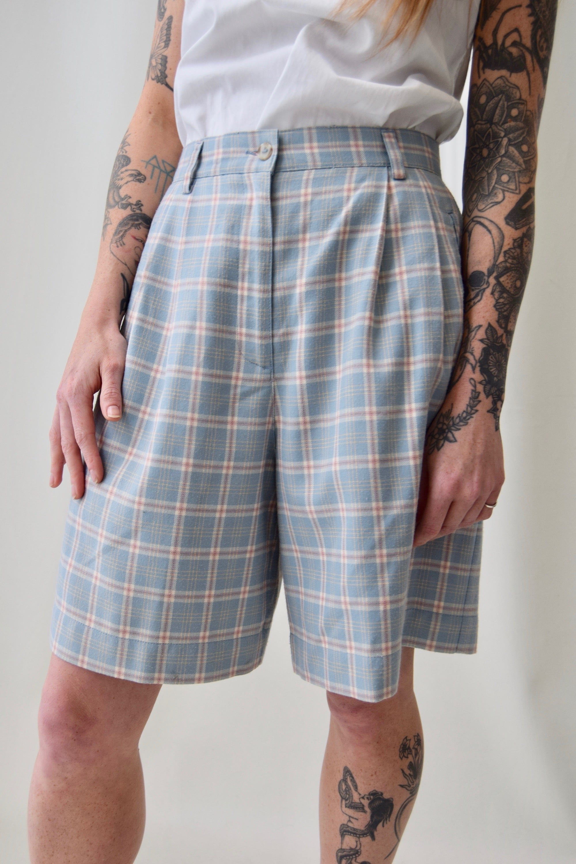 Pastel Plaid Shorts