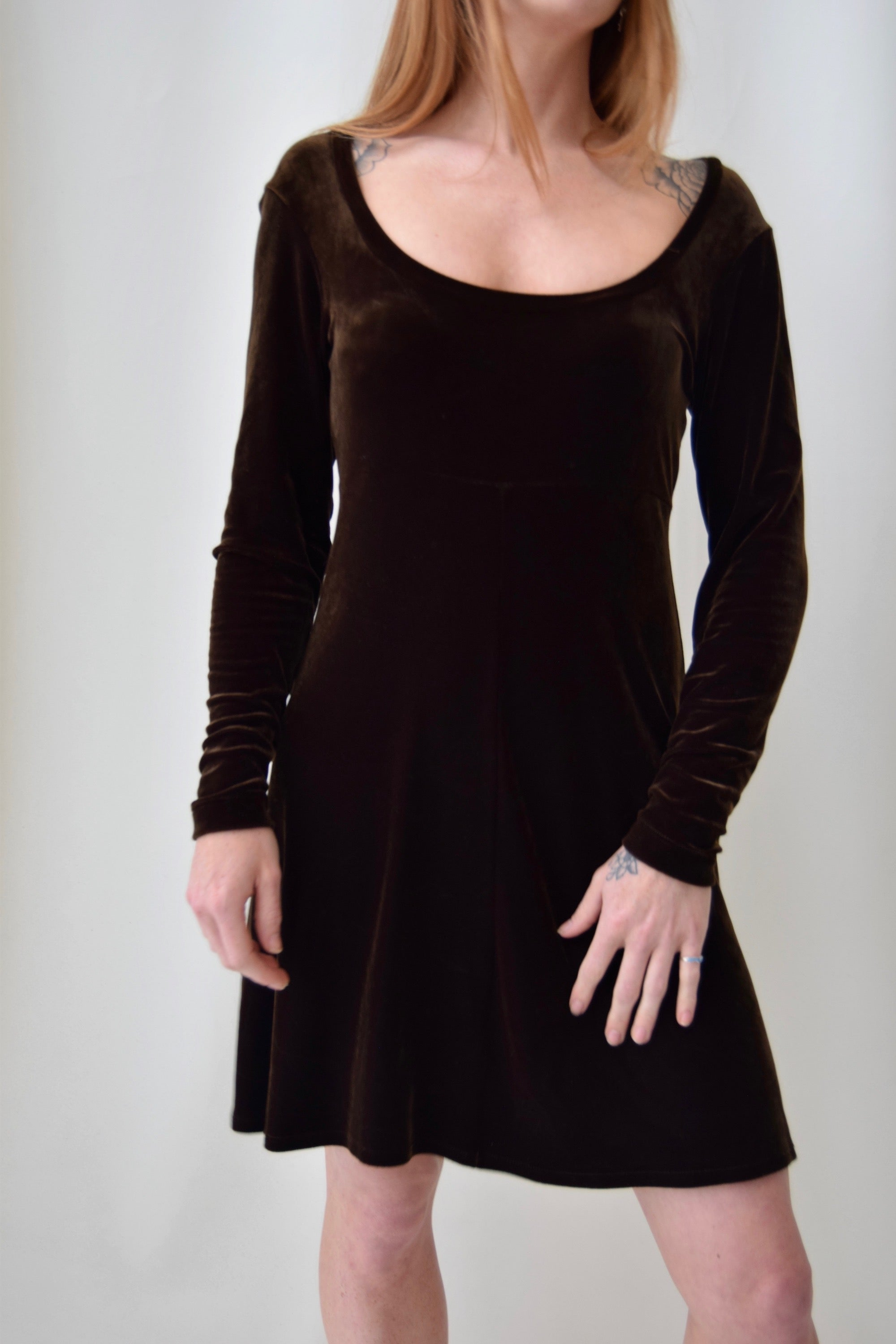 Vintage BCBG Chocolate Velvet Dress