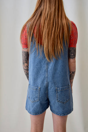 Boxy Denim Shorteralls