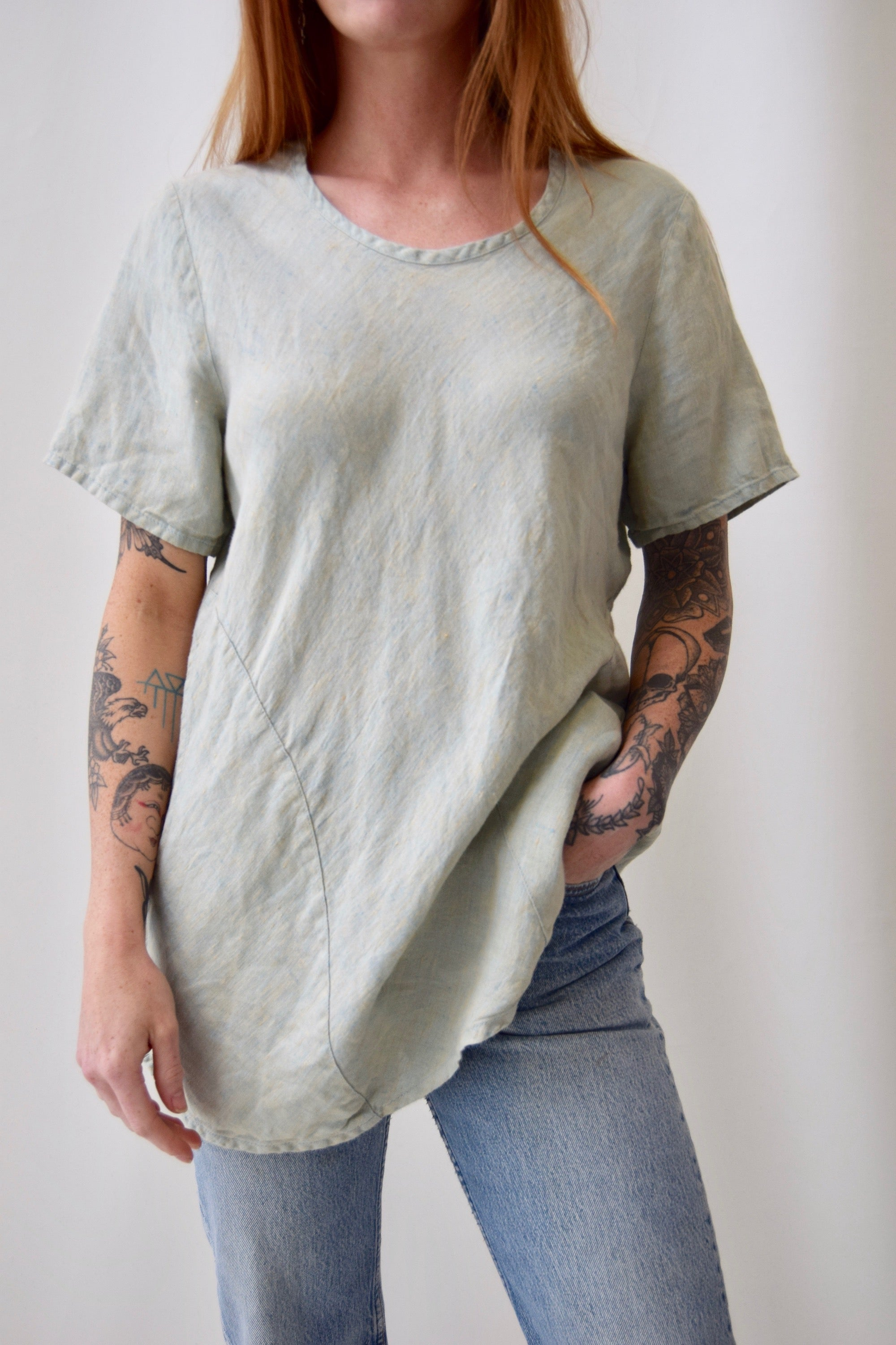 Mermaid Green FLAX Tunic