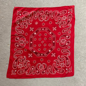 Vintage Elephant Brand Trunk Up Hexagon Bandana