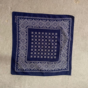 Vintage Elephant Brand Trunk Up Navy Bandana