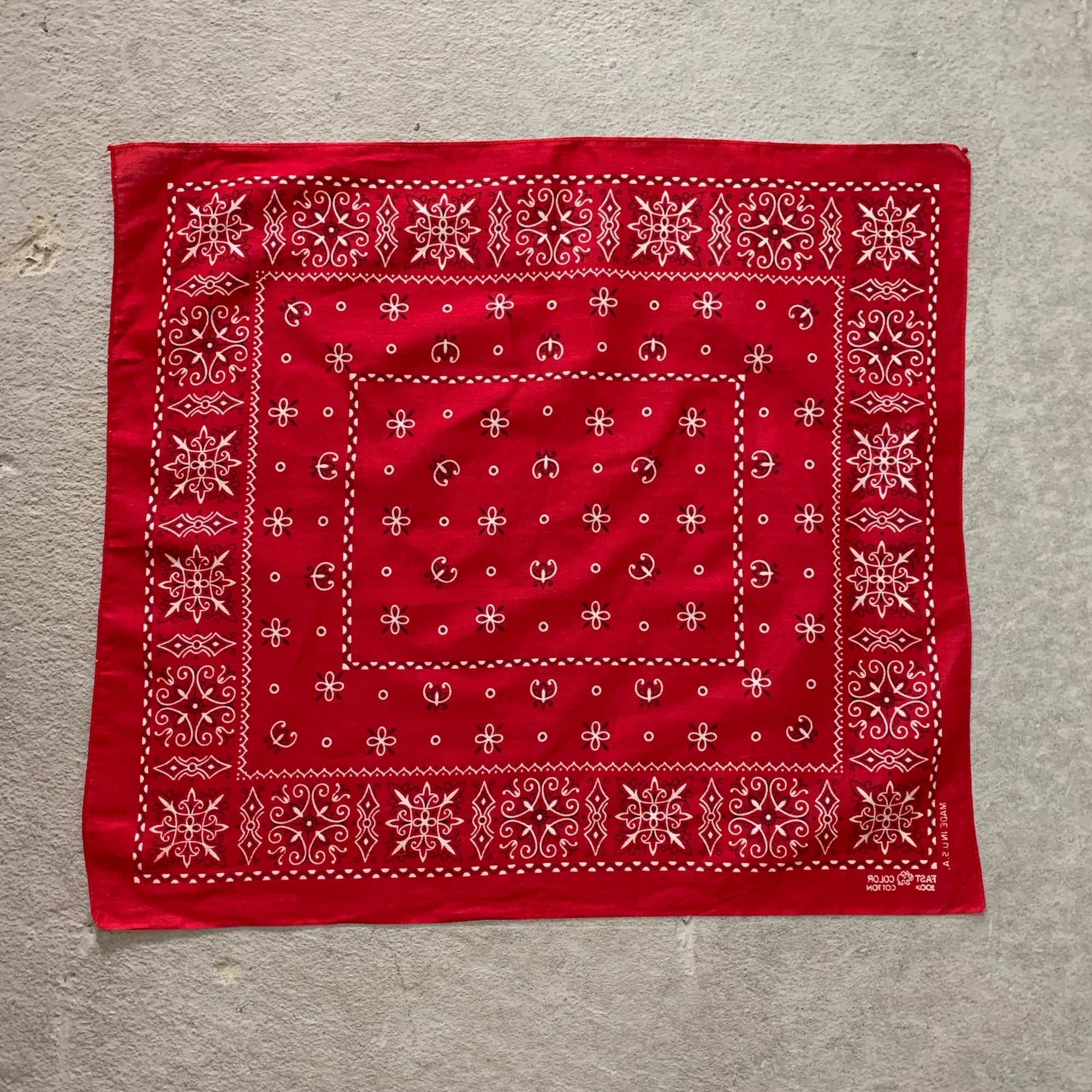 Vintage Elephant Brand Trunk Up Bandana
