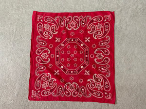 Vintage Elephant Brand Trunk Up Faded Red Bandana