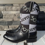 307 Koozie Patchwork Boots - Black & Grey - by Anderson Bean