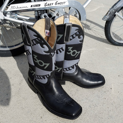"307 Koozie Patchwork Boots ""Grey Ghost Edition"" by Anderson Bean"