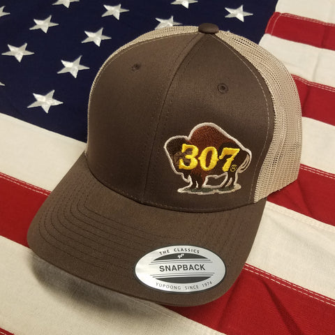 307 Painted Buffalo Logo Hat