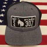 "307 ""1947"" Wyo License Plate Cap"