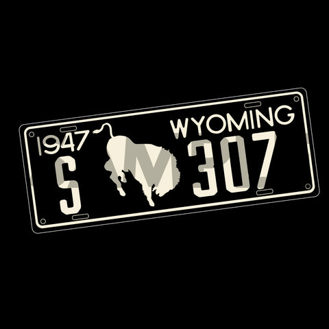 "307 ""1947"" License Plate Decal"