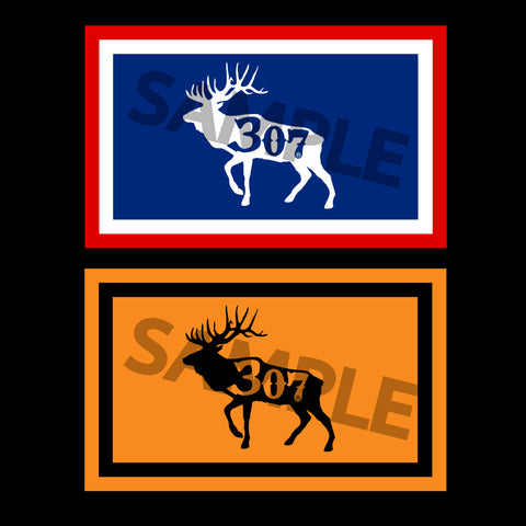 307 Elk Flag Decals