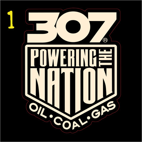 307 Powering The Nation Decal