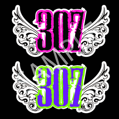 307 Wings Decal