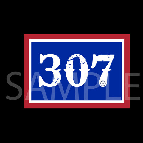 307 Wyomin' Flag Decal