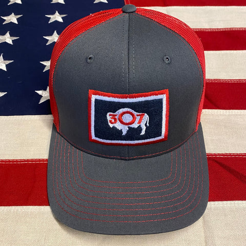 307 Wyoming Flag Cap