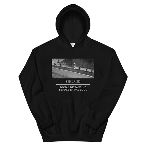 SOCIAL DISTANCING BEFORE IT WAS COOL BLACK HOODIE