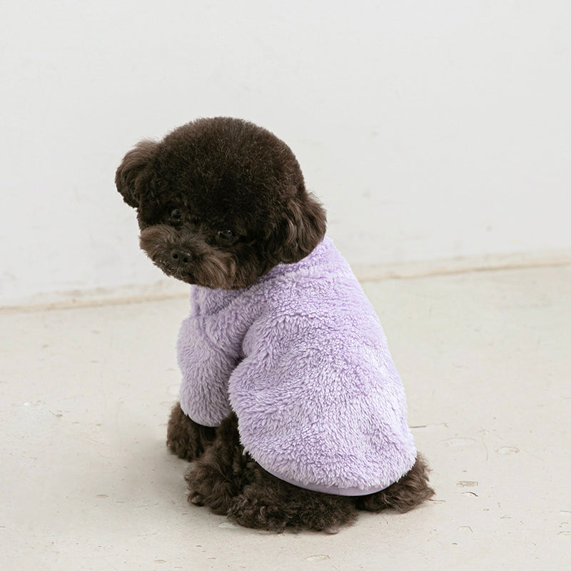 Boa Fleece Purple Lilac Dog apparel